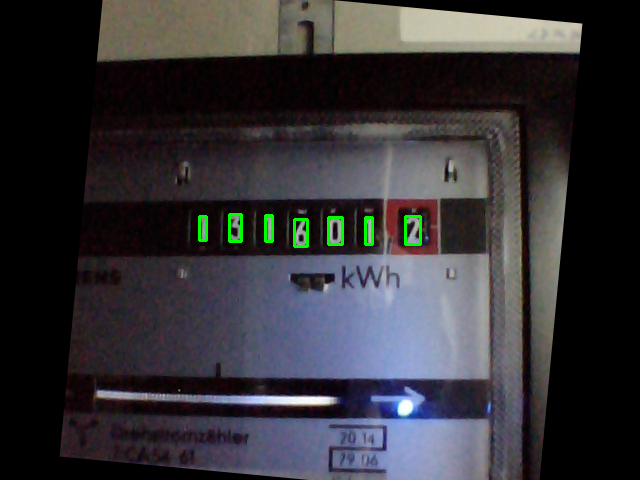 opencv practice  ocr for the electricity meter